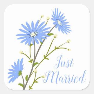 Sticker Carré Juste la marguerite mariée florale fleurit le