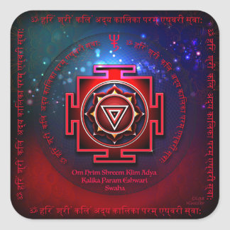 Sticker Carré Kali Yantra