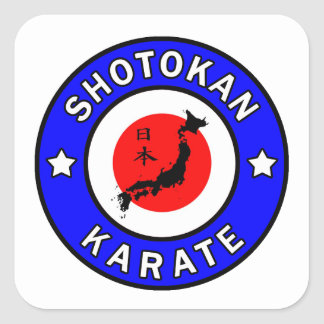 Sticker Carré Karaté de Shotokan