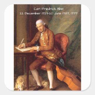 Sticker Carré Karl Friedrich Abel