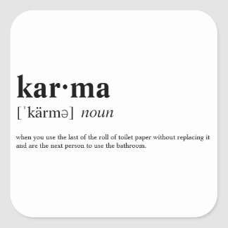 Sticker Carré Karma