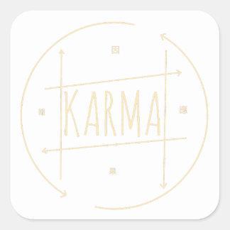 Sticker Carré Karma (pour l'arrière - plan foncé)