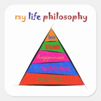 Sticker Carré Kephalonissa - ma philosophie de la vie