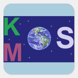 Sticker Carré Kosmos étoilé