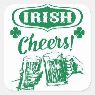 Sticker Carré La bière de St Patrick d'acclamations célèbrent