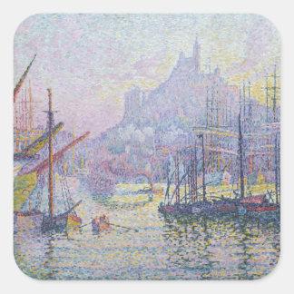 Sticker Carré La Bonne de Notre-Dame-De-La-Garde simple