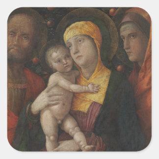 Sticker Carré La famille sainte avec le saint Mary Magdalene