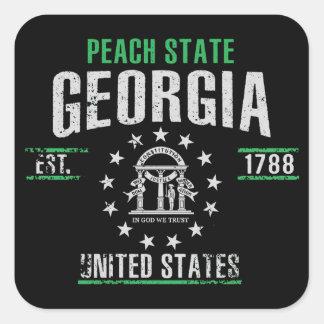 Sticker Carré La Géorgie