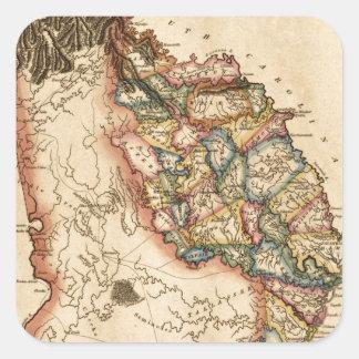 Sticker Carré La Géorgie 1817