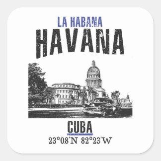 Sticker Carré La Havane