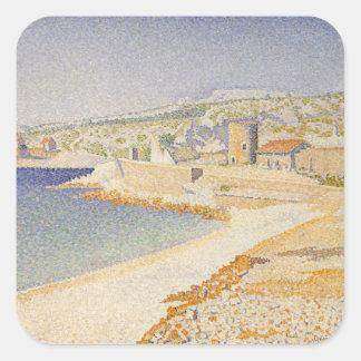 Sticker Carré La jetée chez Cassis