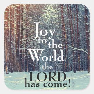 Sticker Carré La joie au monde le seigneur est venue, Noël