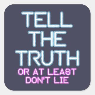 Sticker Carré La Jordanie Peterson : Dites la vérité…