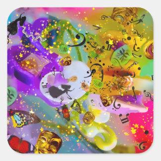 Sticker Carré La musique peut exprimer tout et dire rien