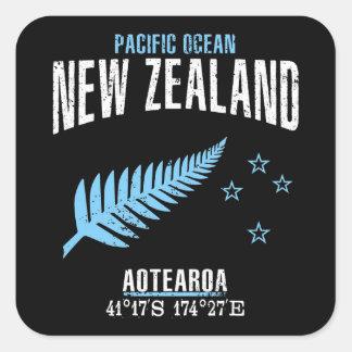 Sticker Carré La Nouvelle Zélande
