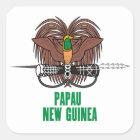 Sticker Carré La PAPOUASIE-NOUVELLE-GUINÉE -