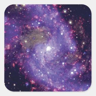 Sticker Carré La photo d'espace extra-atmosphérique de galaxie