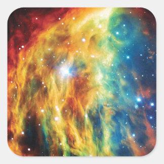 Sticker Carré La photo d'espace extra-atmosphérique de Hubble de