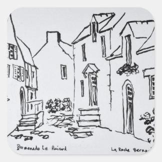 Sticker Carré La Roche-Bernard, la Bretagne de Promenade du