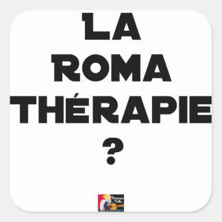 Sticker Carré La Roma Thérapie - Jeux de Mots - Francois Ville