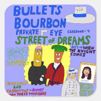 Sticker Carré La rue de Bourbon #4 de balles des rêves couvrent