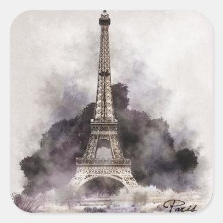 Sticker Carré La Tour Eiffel de Paris.