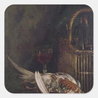 Sticker Carré La vie de Claude Monet | toujours avec un faisan,