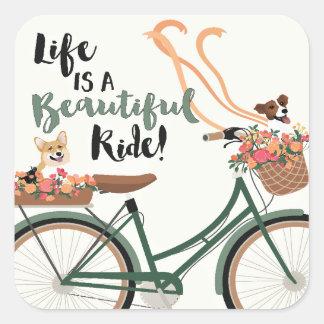 Sticker Carré La vie est un beau tour