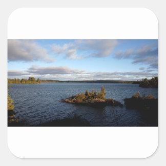 Sticker Carré Lac du nord ontario