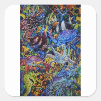 Sticker Carré Lagune de homard