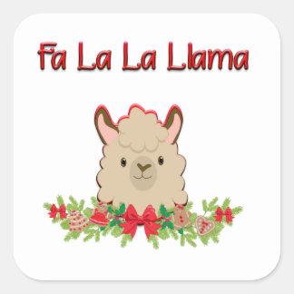 Sticker Carré Lama de La de La de fa