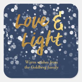 Sticker Carré L'amour et allument l'aluminium beau Bokeh