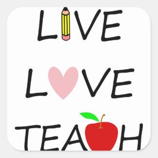 Sticker Carré l'amour vivant enseignent