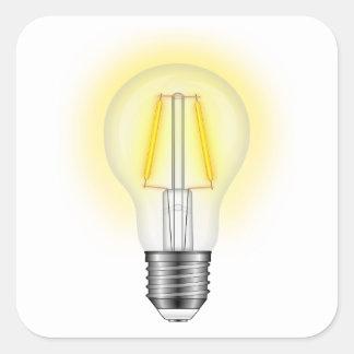 Sticker Carré Lampe à lueur