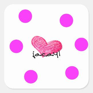 Sticker Carré Langue somalienne de conception d'amour
