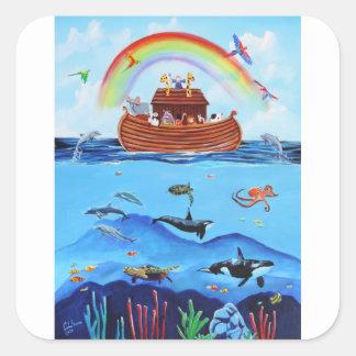 Sticker Carré L'arche de Noé