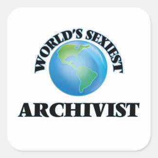 Sticker Carré L'archiviste le plus sexy du monde