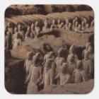 Sticker Carré L'armée des guerriers de terre cuite à l'empereur