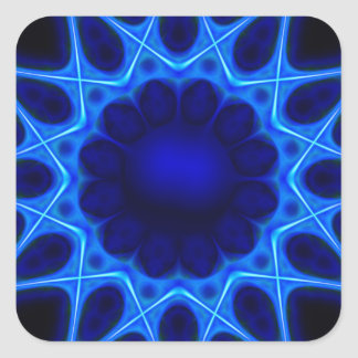 Sticker Carré laser bleu #3