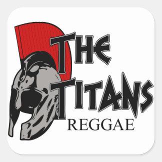 Sticker Carré L'autocollant de barre de titans