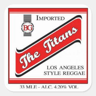 Sticker Carré L'autocollant de RedStip de titans