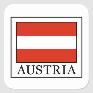 Sticker Carré L'Autriche
