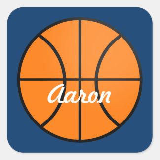 Sticker Carré Le basket-ball personnalisé folâtre des