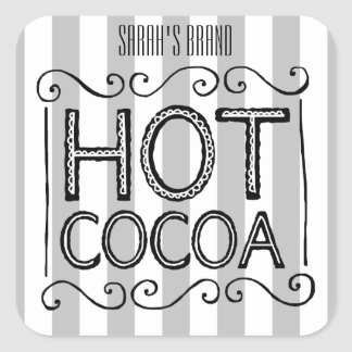 Sticker Carré Le cacao chaud ajoutent votre nom