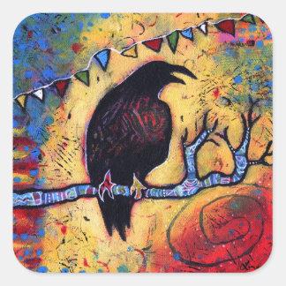 Sticker Carré Le cadeau de Raven