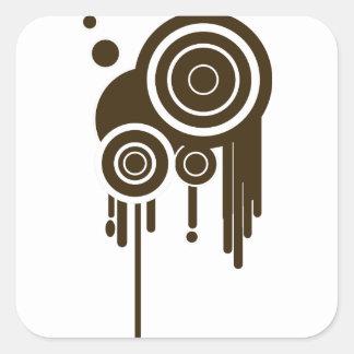 Sticker Carré Le cercle vise l'égoutture