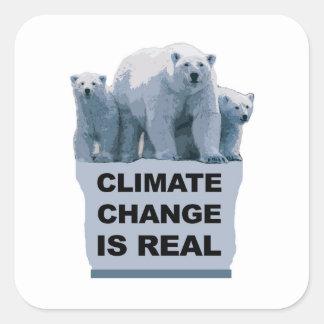 STICKER CARRÉ LE CHANGEMENT CLIMATIQUE EST VRAI