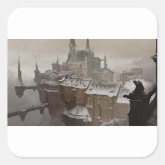 Sticker Carré Le château du propriétaire