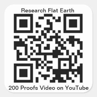 Sticker Carré Le code de QR pour la terre de 200 preuves est