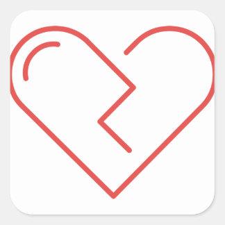 Sticker Carré Le coeur brisé